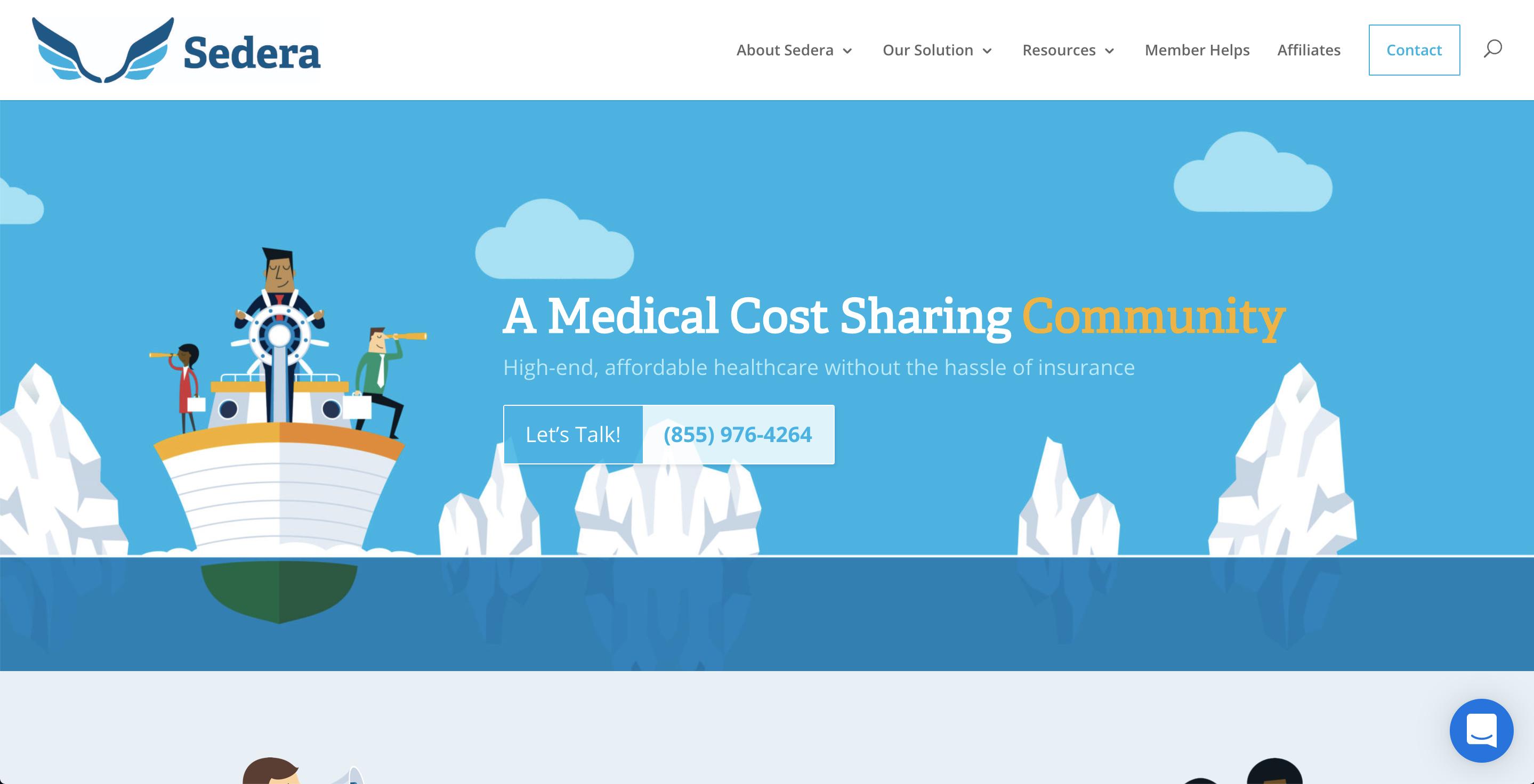 sedera healthshare homepage